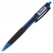 Ручка шариковая масляная автоматическая BRAUBERG «Phantom», узел 0,7 мм, линия 0,35 мм, резиновый упор, синяя (142699)