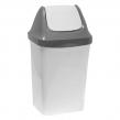 Ведро-контейнер 15 л, с крышкой, для мусора,«Свинг», 47×27×23 см,IDEA