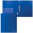 Папка на 2 кольцах BRAUBERG Стандарт, 40 мм, синяя, до 250 листов, 0,9 мм