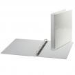 Папка на 4 кольца BRAUBERG, обзорная, картон/ПВХ, 35 мм, белая, до 180 листов (221486)