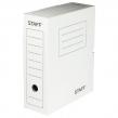 Короб архивный с клапаном, STAFF, микрогофрокартон, 100 мм, до 900 листов, белый (128863)