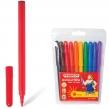 Фломастеры ПИФАГОР, 10 цветов, вентилируемый колпачок, пластиковая упаковка