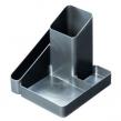"""Органайзер СТАММ """"ИМИДЖ"""", пластиковый, на 4 отд., серый металлик (ОР36)"""