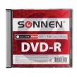 Диск DVD-R SONNEN, 4,7 Gb, 16x, Slim Case, 1 шт. (512575)