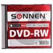 Диск DVD-RW (минус) SONNEN, 4,7 Gb, 4x, Slim Case, 1 шт. (512580)