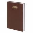 Ежедневник датированный 2020 А5, BRAUBERG, твердая обложка бумвинил, коричневый, 145×215 мм (110908)