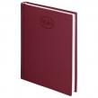 Ежедневник датированный 2019, BRAUBERG «Favorite», А5, фактурная кожа, БОРДОВЫЙ, 138×213 см (129076)