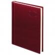 Ежедневник датированный 2019, А5, BRAUBERG «Imperial», гладкая кожа, кремовый блок, БОРДОВЫЙ, 138×213 мм (129088)