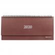 Планинг настольный 2020, BRAUBERG, твердая обложка бумвинил, коричневый, 60 листов, 285×112 мм (110920)