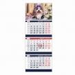 Календарь квартальный на 2018 г., Офис, на 3-х гребнях, «Год собаки»