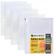 Папки-файлы перфорированные, А4+, BRAUBERG, комплект 50 шт., сверхпрочные, «апельсиновая корка», 0,1 мм