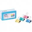 Зажимы для бумаг 25мм, OfficeSpace, 12шт., цветные, картонная коробка (257953)