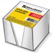 Блок для записей BRAUBERG  в подставке прозрачной