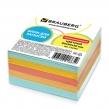 Блок для записей BRAUBERG непроклеенный, куб 9×9х5 см, цветной