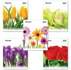 """Тетрадь А5, 96 л., BRAUBERG ЭКО, клетка, картон, """"Цветы"""" (401845)"""