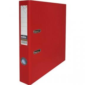 Папка-регистратор INDEX с карманом, 50 мм, PVC, красная 11916 (С09696)