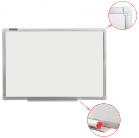 Доска магнитно-маркерная BRAUBERG стандарт, 100×150 см, алюминиевая рамка