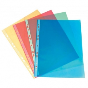 Папки-файлы, Бюрократ Премиум, КРАСНЫЕ,глянцевые А4+ 30мкм, комплект 50шт (817150/3)