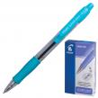 Ручка шариковая PILOT автоматическая, BPGP-10R-F «Super Grip», корпус голубой, с резиновым упором, 0,32 мм, синяя