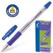 Ручка шариковая масляная PILOT BPS-GP-F, корпус синий, с резиновым упором, 0,32 мм, синяя