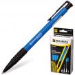 Ручка шариковая BRAUBERG  автоматическая «Explorer», корпус синий, толщина письма 0,7 мм, резиновый держатель, синяя