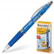 Ручка шариковая BRAUBERG «Rave» автоматическая, корпус синий, толщина письма 0,7 мм, резиновый держатель, синяя