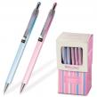 Ручка шариковая BRAUBERG «Sakura» , автоматическая, корпус ассорти, толщина письма 0,5 мм, синяя