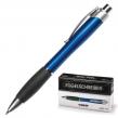Ручка шариковая LACO автоматическая (PRK-001), корпус синий, резиновый держатель, синяя