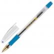 Ручка шариковая масляная с грипом BRAUBERG Model-XL GLD, синяя, узел 0,5 мм, линия письма 0,25 мм (143245)