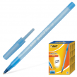 Ручка шариковая BIC «Round Stic», корпус голубой, 0,4 мм, синяя (141766)