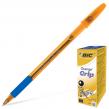 """Ручка шариковая BIC """"Оранж Грип"""", синяя, тонкая линия (141768)"""