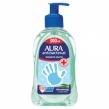 Мыло-крем жидкое, 300 мл, AURA «Antibacterial», антибактериальное, «Экстракт алоэ», дозатор (602461)