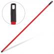 Черенок для щетки IDEA, длина 120 см, металлопластик, красный