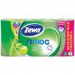 Бумага туалетная ZEWA Plus, 2-х слойная, спайка 8 шт. х 23 м, аромат яблока