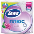 Бумага туалетная ZEWA Plus, 2-х слойная, спайка 4 шт. х 23 м, аромат сирени