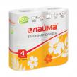 Бумага туалетная ЛАЙМА, 2-х слойная, спайка 4 шт. х 19 м, белая