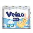Бумага туалетная VEIRO Classic, 2-х слойная, спайка 24 шт. х 17 м, белая