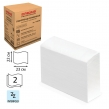 Полотенца бумажные 200 штук, ЛАЙМА (Система H2), комп. 20 шт., классик, 2-слойные, белые, 22×23, Interfold, (126096)