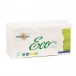 Салфетки бумажные, 250 шт., 24×24 см, МЯГКИЙ ЗНАК Eco, белые, 100% целлюлоза, C58 (127952)