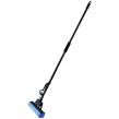 Швабра с отжимом ЛАЙМА, металлическая ручка 110 см, насадка PVA 26 см, механизм - ролики