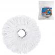 Насадка МОП для швабры ЛАЙМА круглая, диаметр 16 см, микрофибра швабра 601460