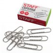 Скрепки STAFF эконом, 50 мм, металлические, гофрированные, 50шт. в карт.коробке