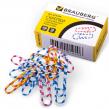 Скрепки BRAUBERG 28 мм с цветными полосками, 100 шт., в карт. коробке (221534)