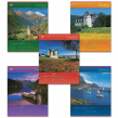 Тетрадь 96 л. Hatber, клетка, обложка мелованный картон, «Ландшафты Европы»