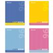 Тетрадь 96 л. BRAUBERG, клетка, обложка мелованный картон, «One Colour», 4 вида