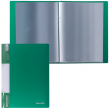 Папка  20 вклад. BRAUBERG Стандарт, зеленая, 0,6мм