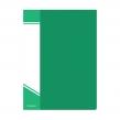 Папка с файлами А4 inФОРМАТ,100 файлов пластиковая,с карманом, зеленая (040833)