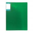 """Папка с файлами А4 STANGER """"HOR LINES"""", 30 файлов, пластиковая, с карманом, зеленая (059578)"""