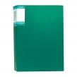"""Папка с файлами А4 STANGER """"HOR LINES"""",60 файлов,пластиковая,с карманом,зеленая (059582)"""