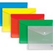 Папка-конверт на кнопке A5, 180мкм, зеленая (BERLINGO)